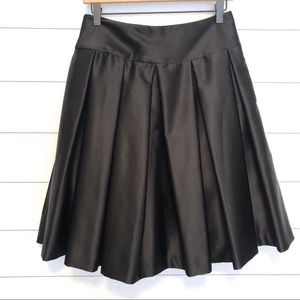 JS Collections Black A-Line Pleated Skirt
